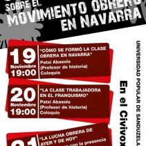 Jornadas sobre el movimiento obrero en Navarra