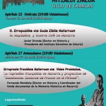 Ciclo de charlas en Uharte Arakil-en hitzaldi zikloa