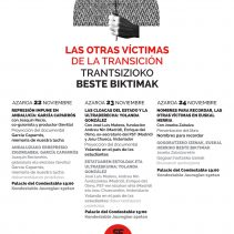 Jornadas Las otras víctimas de la transición – Trantsizioko beste biktimak jaurnaldiak