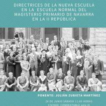 Modernidad educativa en la Escuela Normal del Magisterio de Navarra en la II República